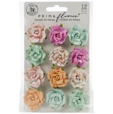 Prima Surfboard Mulberry Paper Flowers 12/Pkg - Tropical Surf