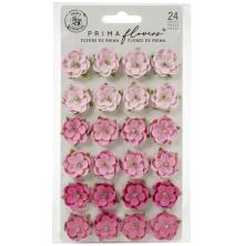 Prima Surfboard Mulberry Paper Flowers 24/Pkg - Pink Beach