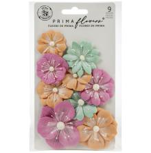 Prima Surfboard Mulberry Paper Flowers 9/Pkg - Big Waves