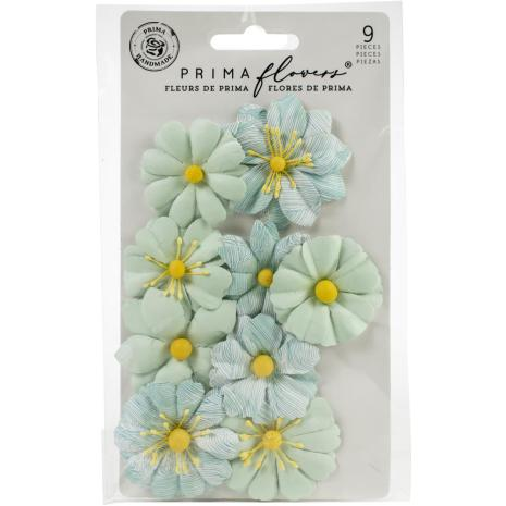 Prima Surfboard Mulberry Paper Flowers 9/Pkg - Choppy Waves