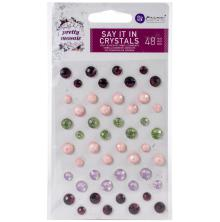 Prima Say It In Crystals 48/Pkg - Pretty Mosaic
