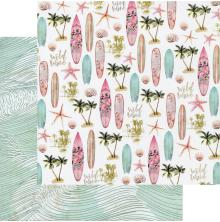Prima Surfboard Double-Sided Cardstock 12X12 - Wild Wave