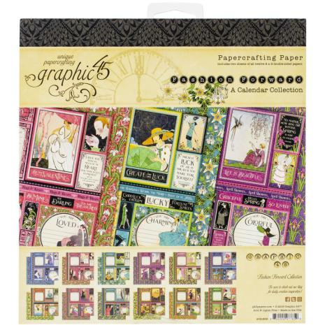 Graphic 45 Double-Sided Paper Pad 8X8 24/Pkg - Fashion Forward