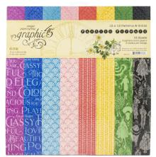 Graphic 45 Double-Sided Paper Pad 12X12 16/Pkg - Fashion Forward