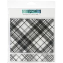 Concord & 9th Clear Stamps 6X6 - Woven Plaid Background