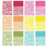Simple Stories Color Vibe Alpha Sticker Book - Brights