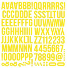 Simple Stories Foam Alpha Stickers - Yellow