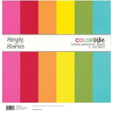 Simple Stories Textured Cardstock Kit - Brights