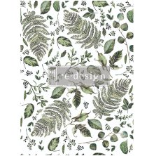 Prima Re-Design Decor Transfers - Fern Woods
