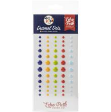 Echo Park Adhesive Enamel Dots 60/Pkg - All Boy