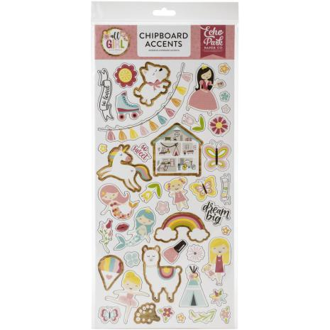 Echo Park All Girl Chipboard 6X13 - Accents