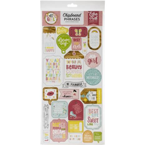 Echo Park All Girl Chipboard 6X13 - Phrases