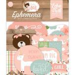 Echo Park Baby Girl Cardstock Die-Cuts 33/Pkg - Ephemera