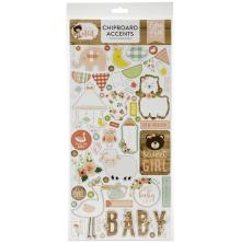 Echo Park Baby Girl Chipboard 6X13 - Accents