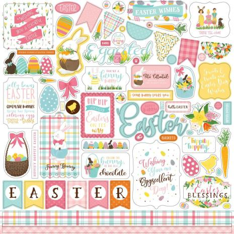 Echo Park I Love Easter Cardstock Stickers 12X12 - Elements