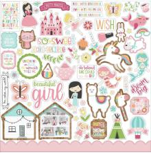 Echo Park All Girl Cardstock Stickers 12X12 - Elements
