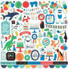 Echo Park It´s Your Birthday Boy Cardstock Stickers 12X12 - Elements