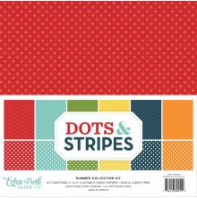 Echo Park Double-Sided Collection Pack 12X12 12/Pkg - Dots & Stripes Summer