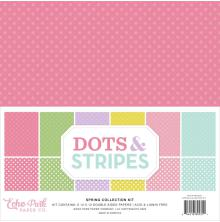 Echo Park Double-Sided Collection Pack 12X12 12/Pkg - Dots/Stripes Spring