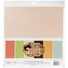 Echo Park Double-Sided Solid Cardstock 12X12 6/Pkg - Baby Girl
