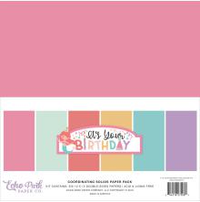 Echo Park Double-Sided Solid Cardstock 12X12 6/Pkg - It´s Your Birthday Girl