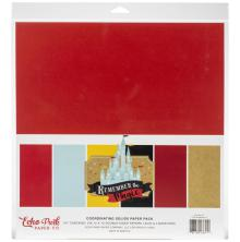 Echo Park Double-Sided Solid Cardstock 12X12 6/Pkg - Remember The Magic