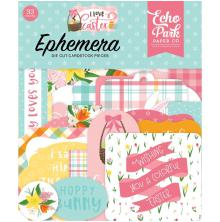 Echo Park I Love Easter Cardstock Die-Cuts 33/Pkg - Ephemera