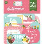 Echo Park I Love Spring Cardstock Die-Cuts 33/Pkg - Ephemera