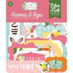 Echo Park I Love Spring Cardstock Die-Cuts 33/Pkg - Frames & Tags