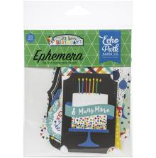 Echo Park It´s Your Birthday Boy Cardstock Die-Cuts 33/Pkg - Ephemera