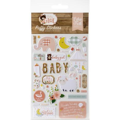 Echo Park Puffy Stickers - Baby Girl