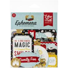 Echo Park Remember The Magic Cardstock Die-Cuts 33/Pkg - Ephemera