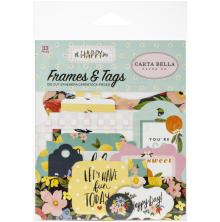 Carta Bella Oh Happy Day Spring Cardstock Die-Cuts 33/Pkg - Frames & Tags