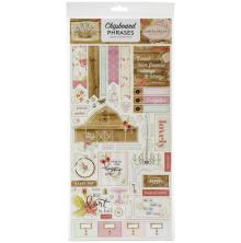 Carta Bella Farmhouse Market Chipboard 6X13 - Phrases