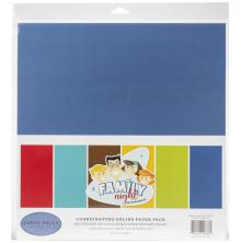 Carta Bella Double-Sided Solid Cardstock 12X12 6/Pkg - Family Night