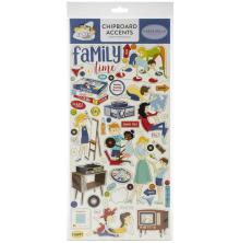 Carta Bella Family Night Chipboard 6X13 - Accents