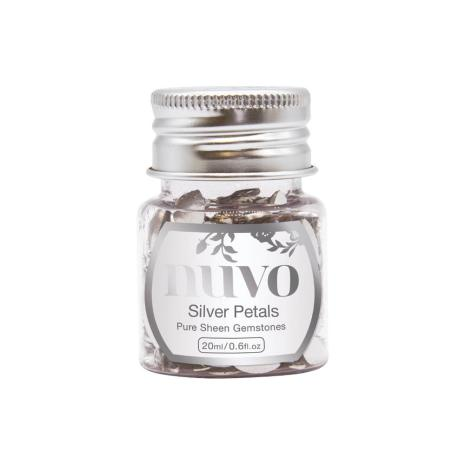 Tonic Studios Nuvo Pure Sheen Gemstones - Silver Petals 1403N