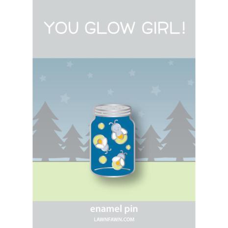 Lawn Fawn Ornaments Enamel Pin - You Glow Girl