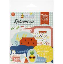 Echo Park Summertime Cardstock Die-Cuts 33/Pkg - Ephemera