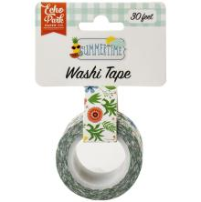 Echo Park Summertime Decorative Tape - Summer Flowers