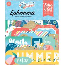 Echo Park Dive Into Summer Cardstock Die-Cuts 33/Pkg - Ephemera