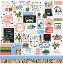 Echo Park Plant Lady Cardstock Stickers 12X12 - Elements