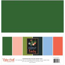 Echo Park Double-Sided Solid Cardstock 12X12 6/Pkg - Plant Lady