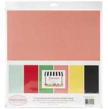 Carta Bella Double-Sided Solid Cardstock 12X12 6/Pkg - Summer Market