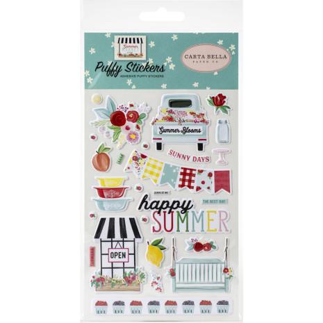 Carta Bella Puffy Stickers - Summer Market
