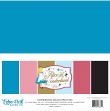 Echo Park Double-Sided Solid Cardstock 12X12 6/Pkg - Alice In Wonderland No. 2
