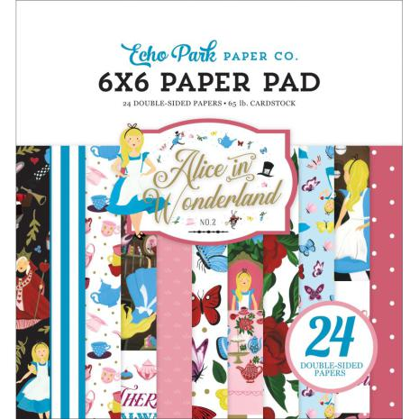 Echo Park Double-Sided Paper Pad 6X6 - Alice In Wonderland No. 2