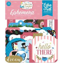Echo Park  Alice In Wonderland No. 2 Cardstock Die-Cuts 33/Pkg - Ephemera