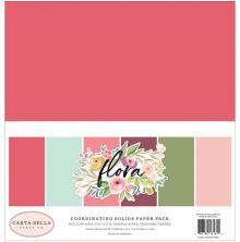 Carta Bella Double-Sided Solid Cardstock 12X12 6/Pkg - Flora No. 3