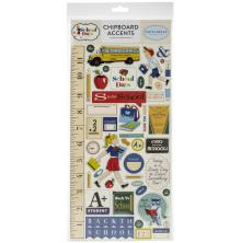 Carta Bella School Days Chipboard 6X13 - Accents